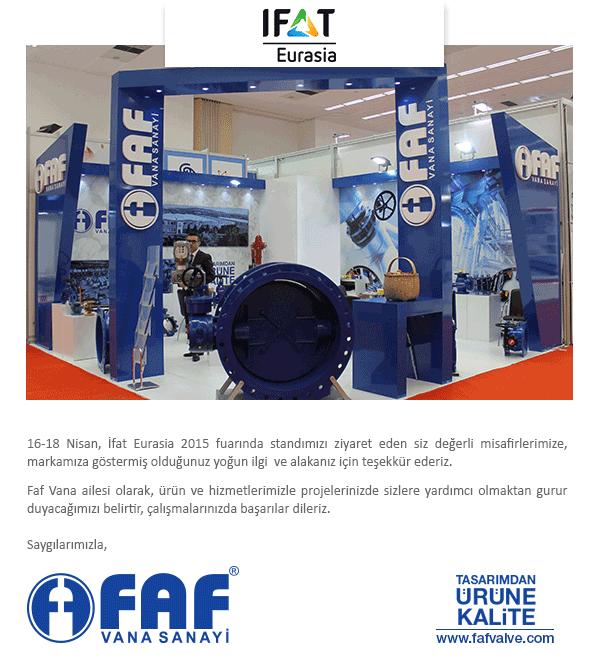 IFAT EURASIA 2015 Fuarımız